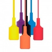 Pendente Silicone 1x E-27 Dot Color - Taschibra