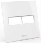 Placa Espelho 2 Posto 4x4 - Enerbras Beleze