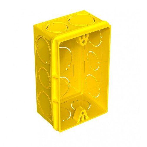 Caixa de Luz 4x2 PVC para alvenaria amarela -Tigre
