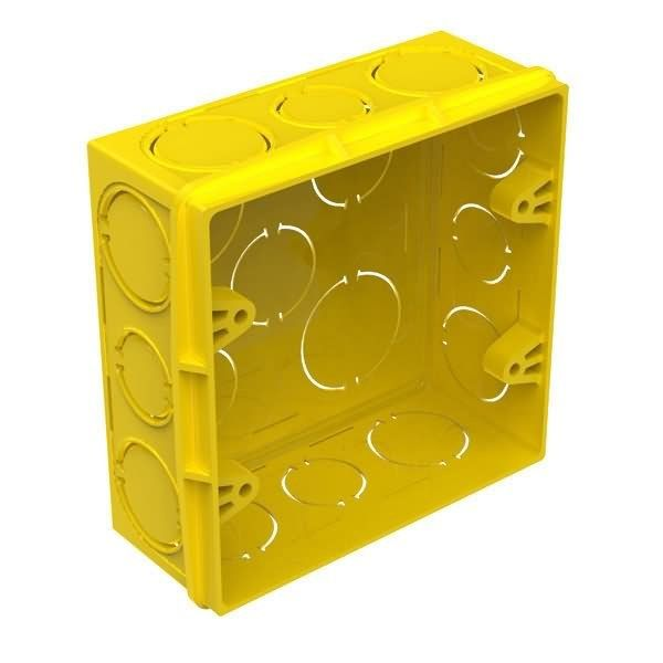 Caixa de Luz 4x4 PVC para alvenaria amarela -Tigre