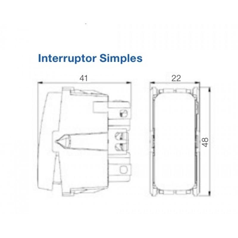 """Cojunto Interruptor Simples + Placa 4x2"""" + Suporte Linha Composé Branco 13272418 - Weg"""