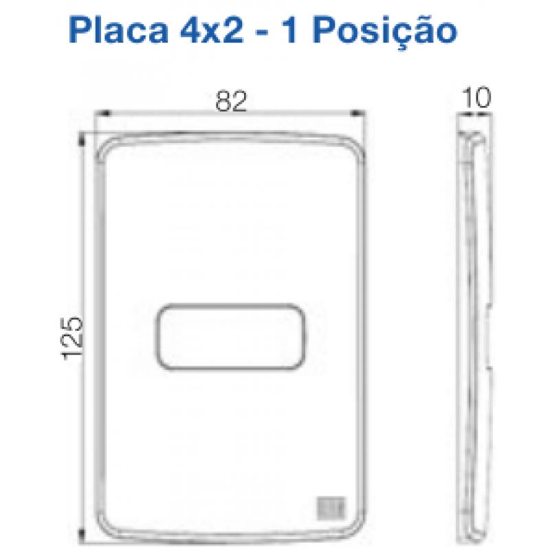 """Conjunto Tomada 10A + Placa 4x2"""" + Suporte Linha Composé Branco 13272662 - Weg"""