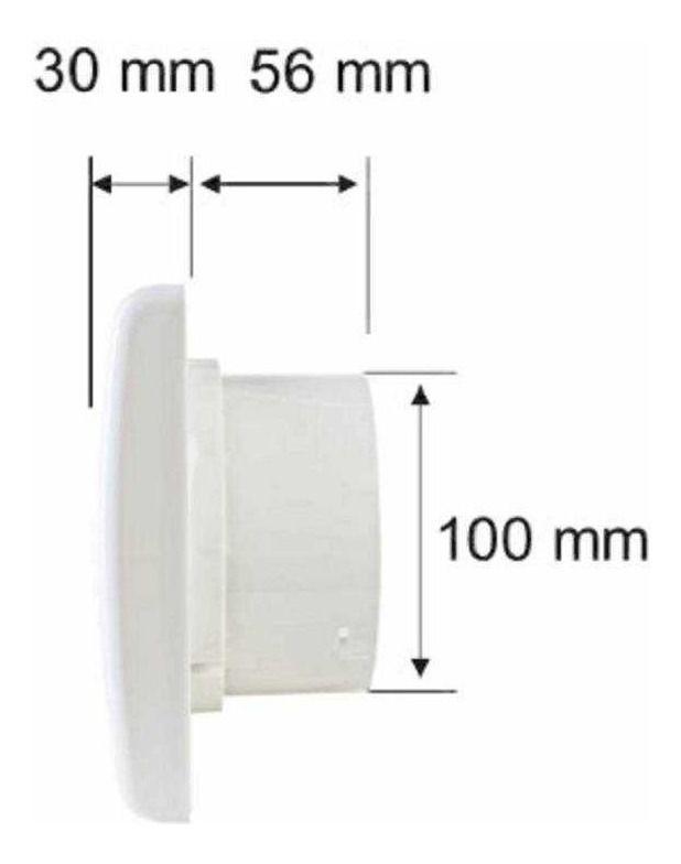 Exaustor 10cm p/banheiro 127v EXB100-01