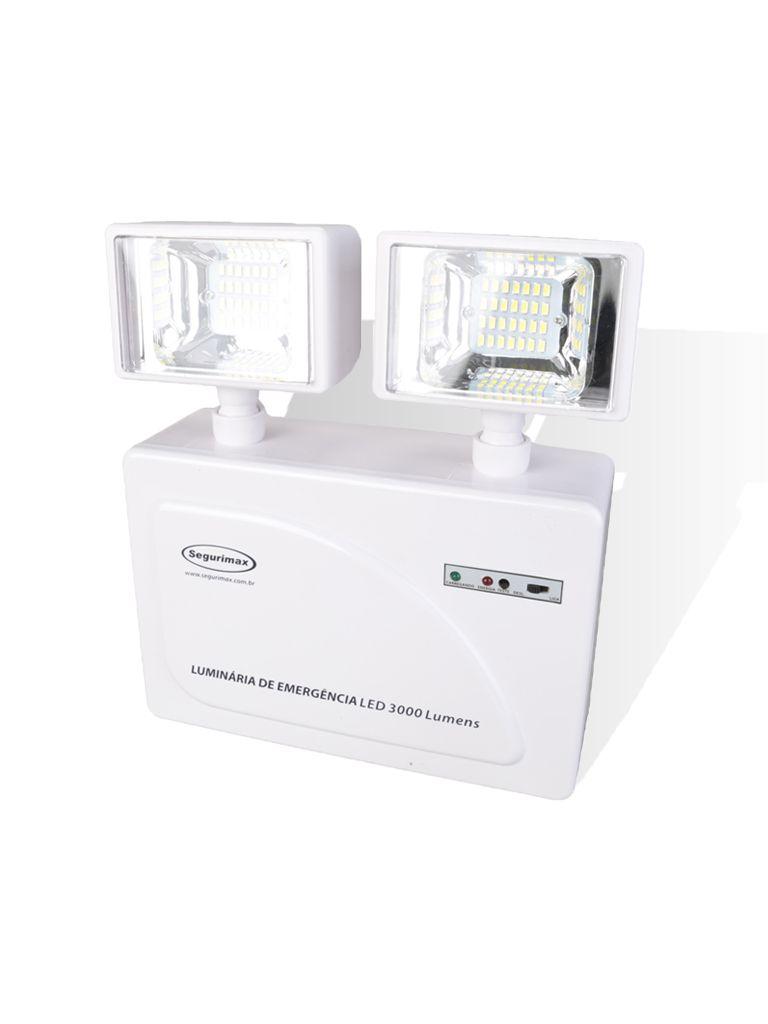 Iluminação de Emergência LED 3000 Lumens 2 Faróis
