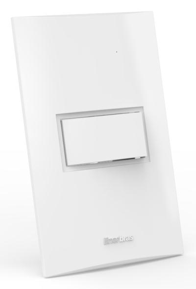 Interruptor montado 1 Tecla Simples - Enerbras Beleze