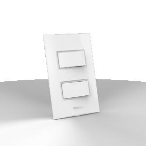 Interruptor montado 2 Teclas Simples - Enerbras Beleze