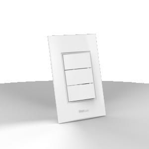 Interruptor montado 3 Teclas Simples - Enerbras Beleze