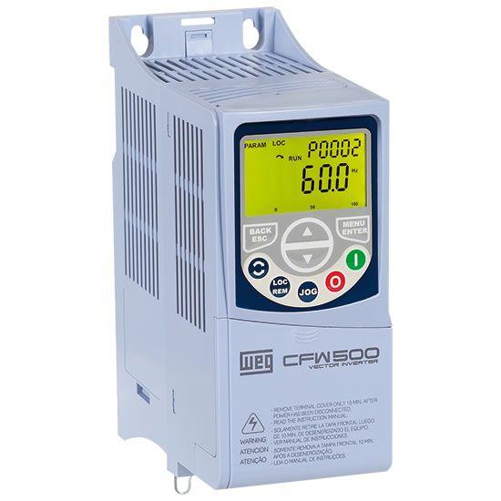 Inversor de Frequência Mono 220V - 0,25CV 1,6A CFW500