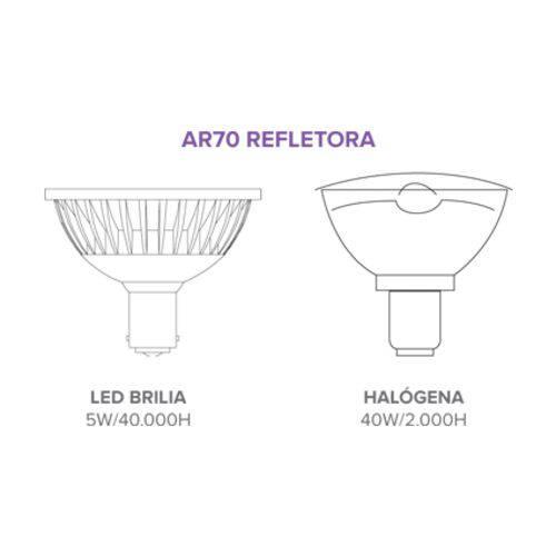 Lâmpada Led Ar70 Refletora Dimerizável Gu10 6w 24º 2700k - Brilia