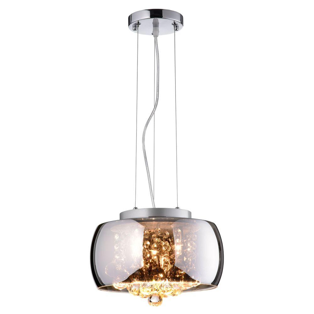 Lustre / Plafon Soho em Vidro e Cristais  PD005 - Bella Iluminação