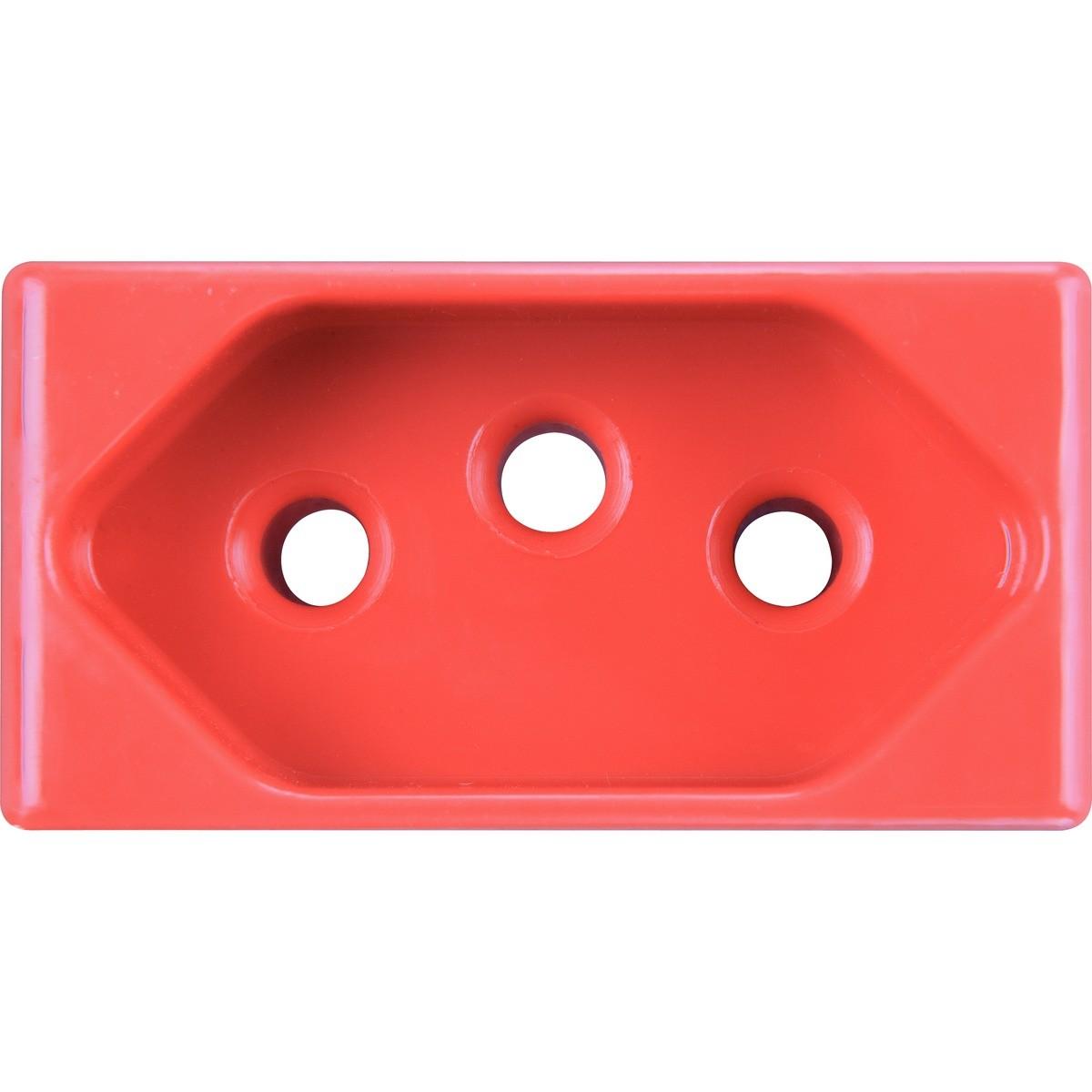 Modulo de Tomada 20A 250V Vermelho - Tramontina