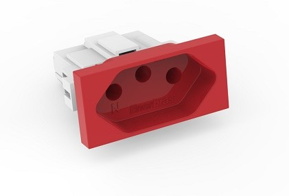 Modulo Tomada 20A Vermelha- Enerbras Beleze