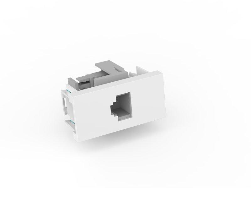 Modulo Tomada RJ11 Telefonia - Enerbras Beleze