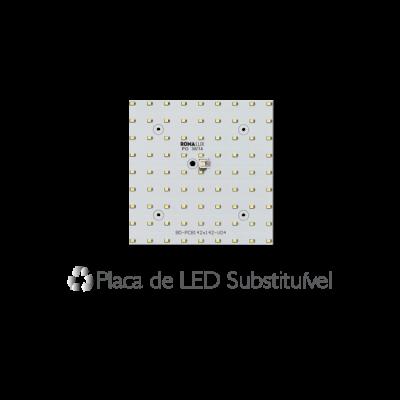Painel Led Embutir Recuado 11 x 11 7W  3000K - Romalux