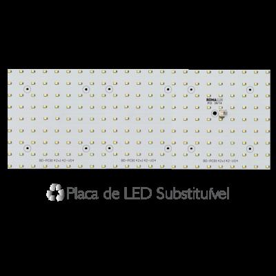 Painel Led Embutir Recuado 120 x 15 36W  3000K - Romalux