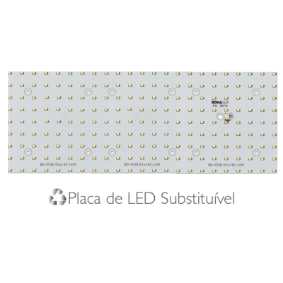 Painel Led Embutir Recuado 60 x 15 18W  4000K - Romalux