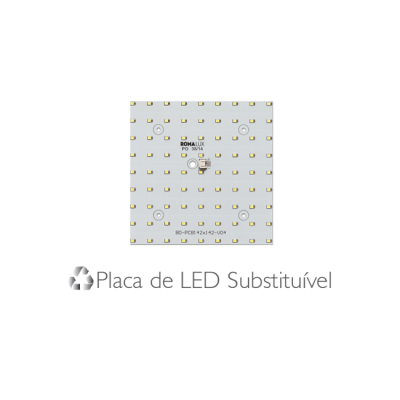 Painel Led Sobrepor Classic 40 x 40 32W  4000K - Romalux