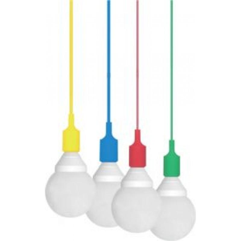Pendente Silicone 1x E-27 Dot Color - Taschibra