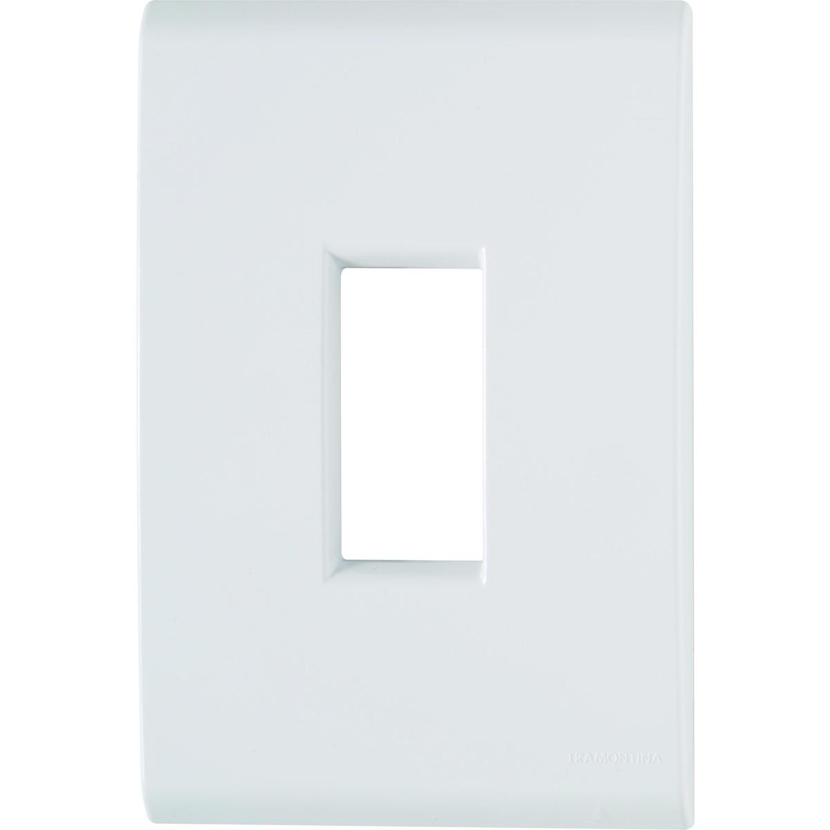 Placa 1 posto vertical - 4x2 - Tramontina