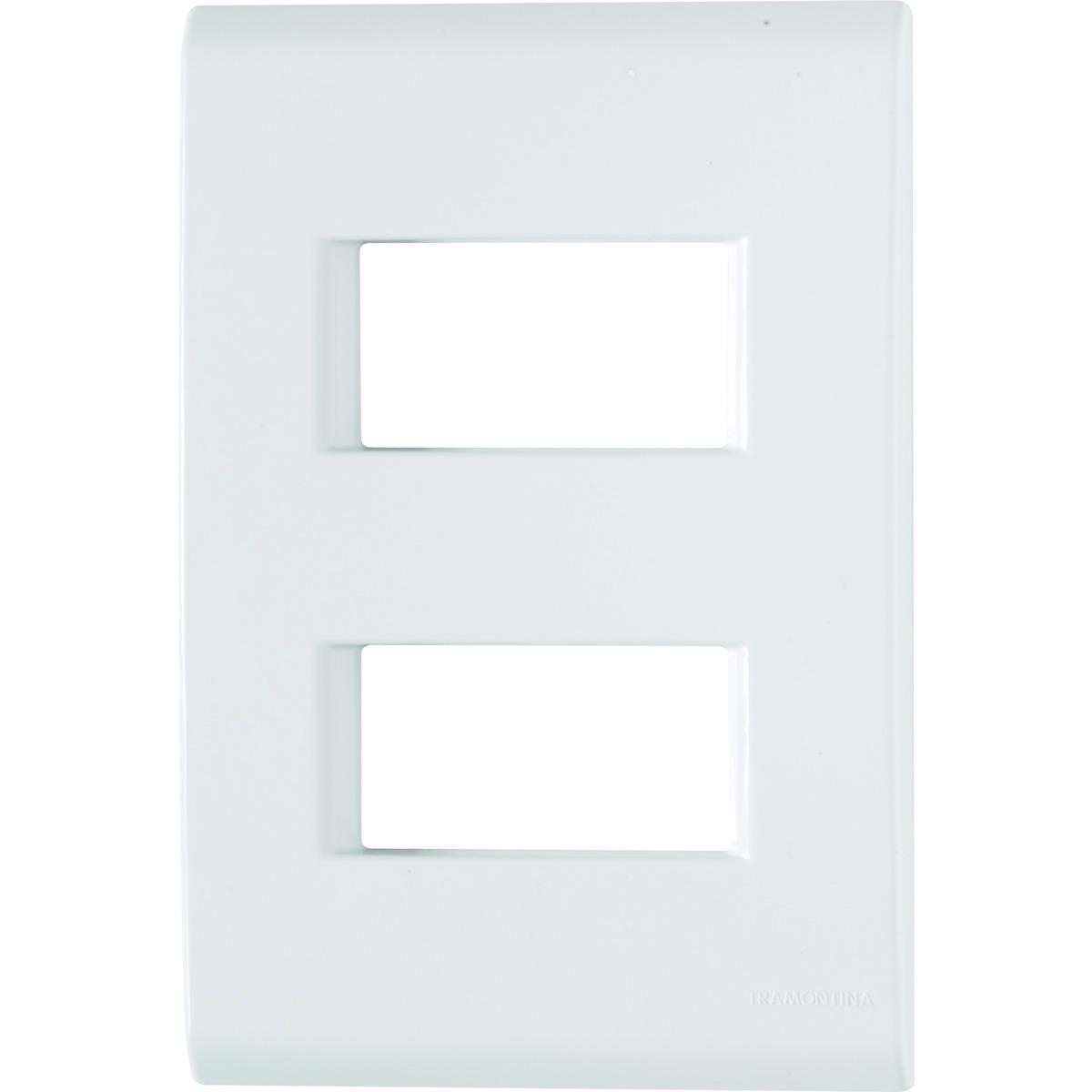 Placa 2 postos afastados - 4x2 - Tramontina