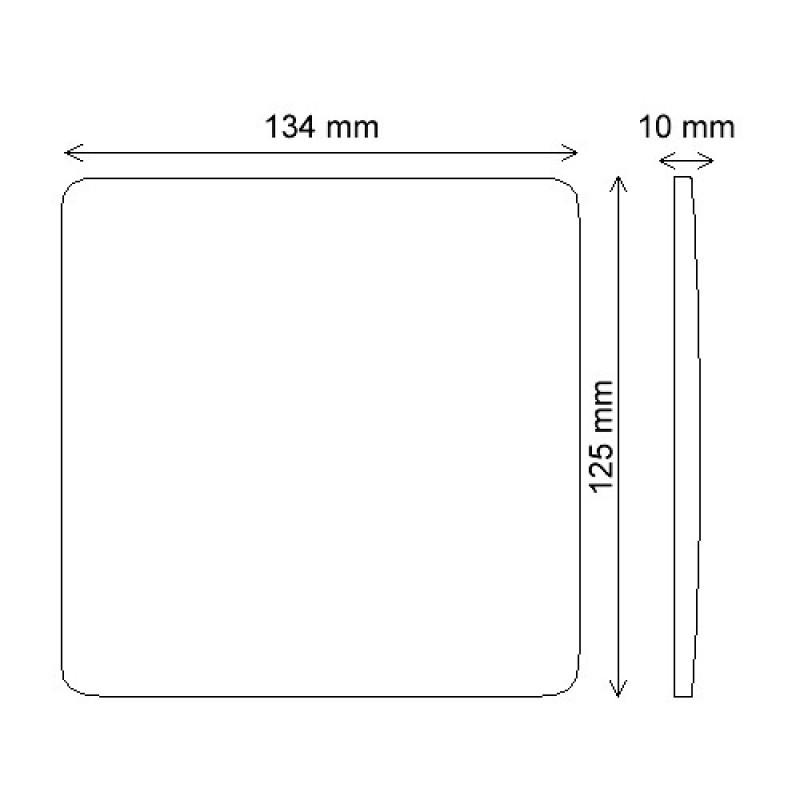 """Placa Cega com suporte 4x4"""" Linha Composé Branco - Weg"""
