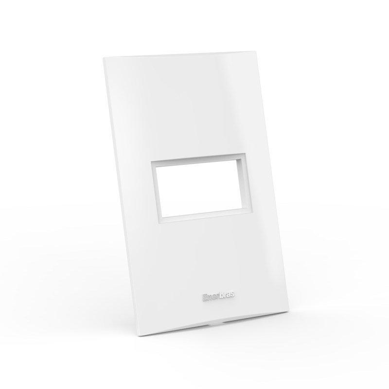 Placa Espelho 1 Posto 4x2 - Enerbras Beleze