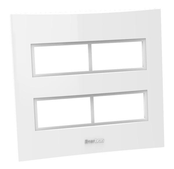 Placa Espelho 4 Posto 4x4 - Enerbras Beleze