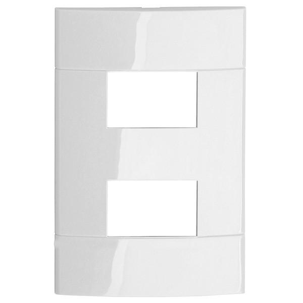 Placa sem Suporte 4x2 2 Postos Branco Prime Decor Schneider