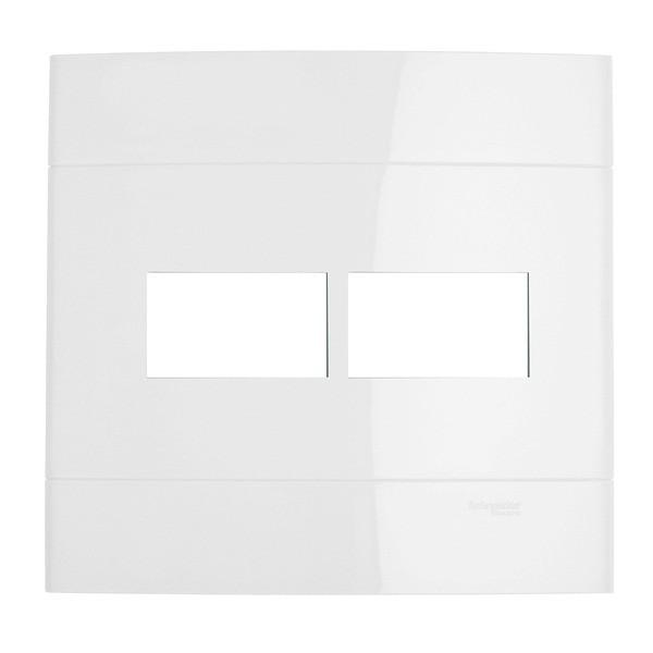 Placa sem Suporte 4x4 2 Postos Branco Prime Decor Schneider