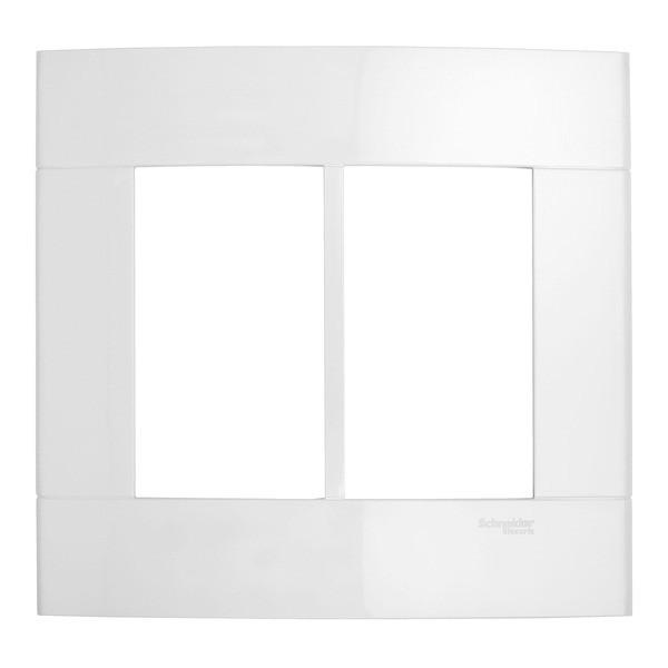 Placa sem Suporte 4x4 6 Postos Branco Prime Decor Schneider