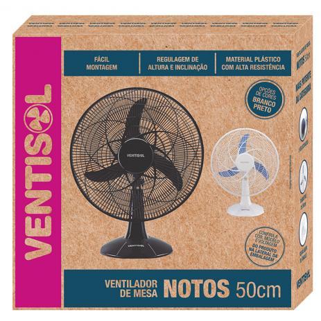 Ventilador de Mesa 3 Pás Branco e Azul - Ventisol
