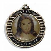 Medalha em Resina Cristo Conta Contigo