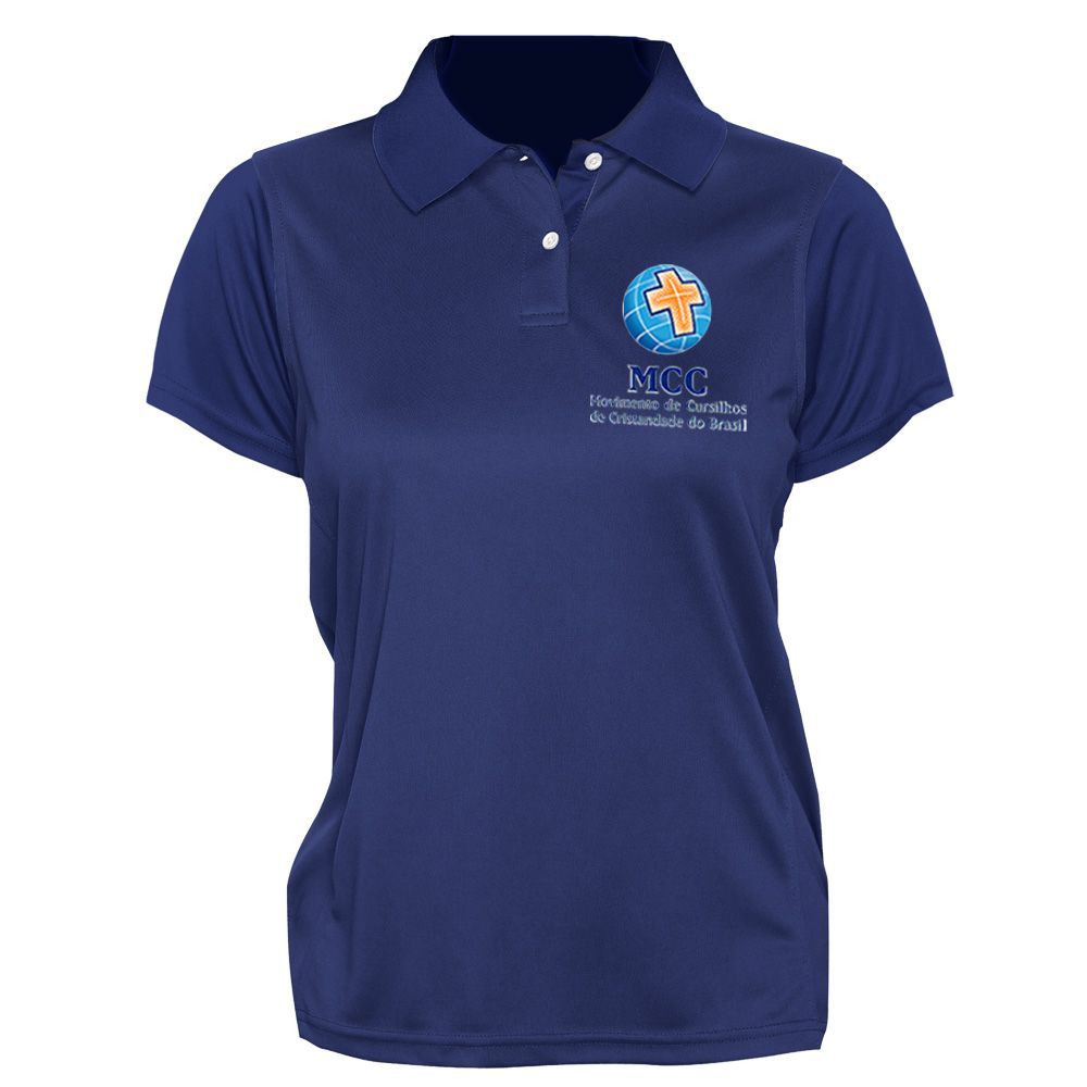 Camisa Polo Feminina Bordada  - Cursilho