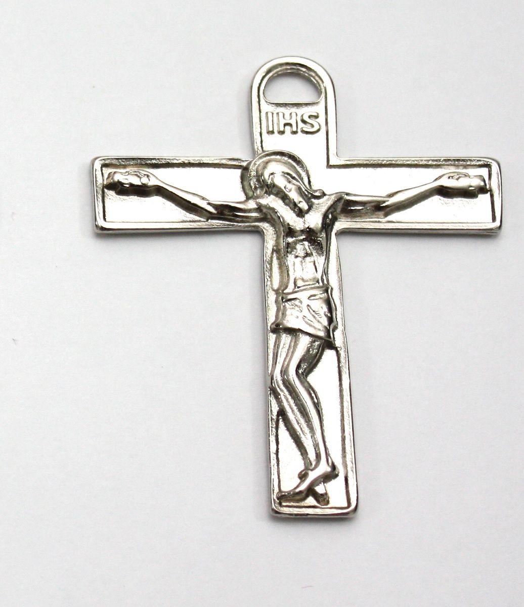 Crucifixo Médio Prateado  - Cursilho