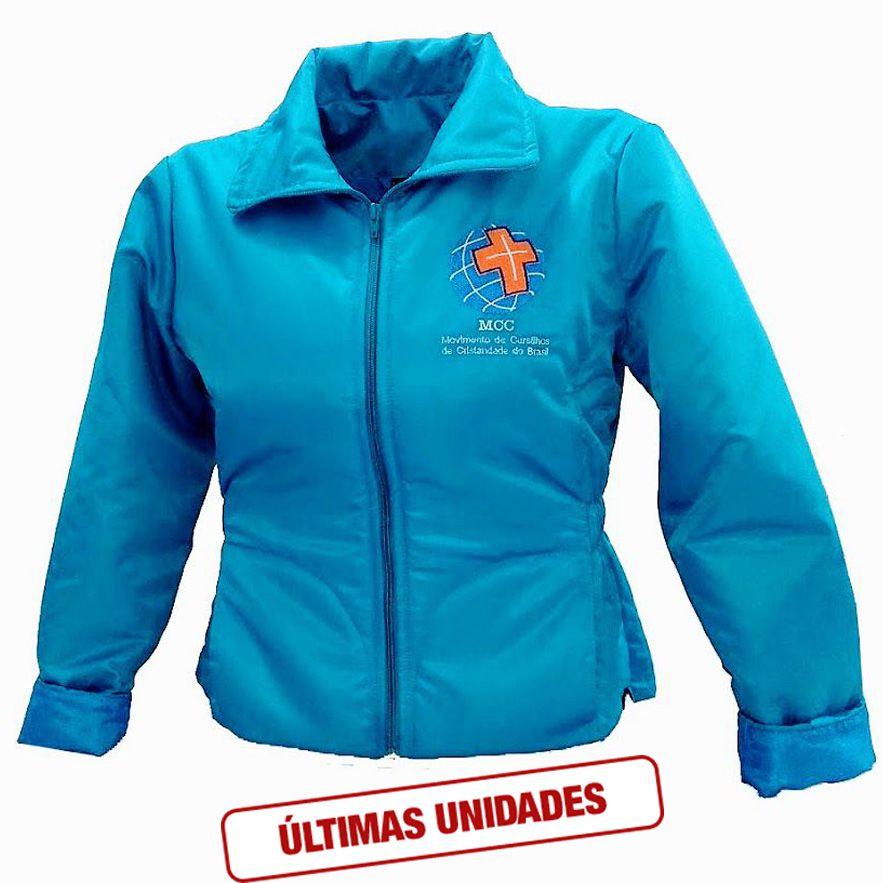 Jaqueta Feminina Estofada Azul Celeste  - Cursilho
