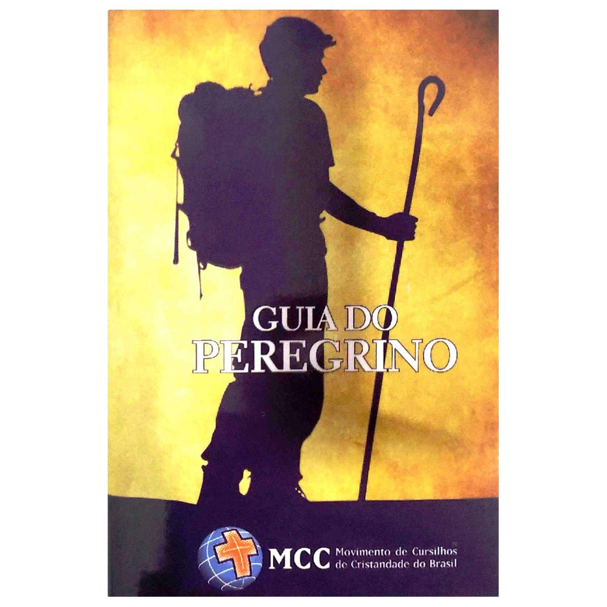 KIT PEREGRINO I - CRUCIFIXO PEQUENO DOURADO + LIVRO GUIA DO PEREGRINO  - Cursilho