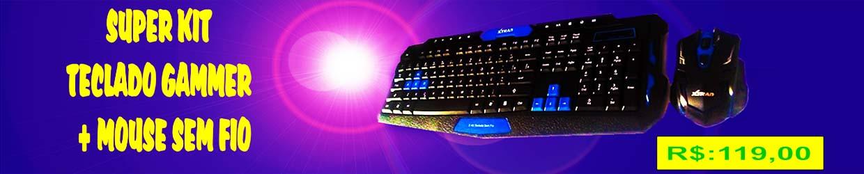 kit teclado gamer + mouse sem fio