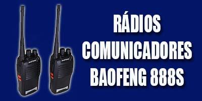 rádio comunicador baofeng 888s