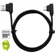 Cabo de Dados para celular Micro USB (V8) 90º