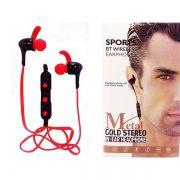 Fone Bluetooth Intra-auricular Metal Gold Stereo Sports Exbom FB-BT-2