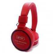 Fone de Ouvido Vermelho com Microfone KP-421