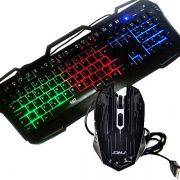 Kit Gamer Teclado e Mouse