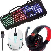 Kit Gamer teclado mouse e Headset