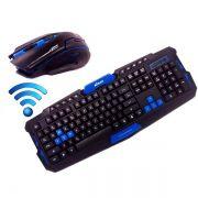 Kit Teclado e mouse gamer sem fio XTrad- HK-8100