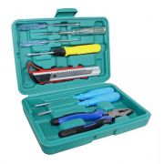 Mini kit de ferramenta alicate, chaves de fenda, chave teste e estilete