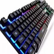 Teclado Gamer com semi-mecânico com iluminação em LED