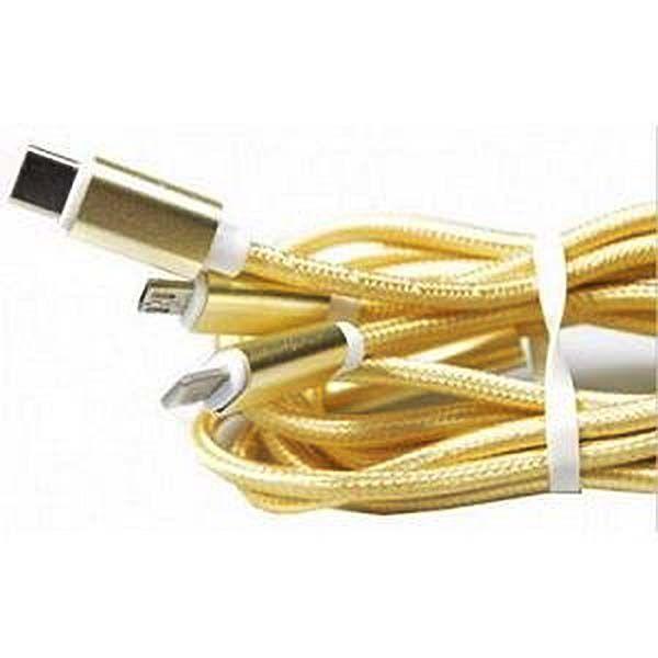 Cabo dourado para iphone 5 e 6, v8