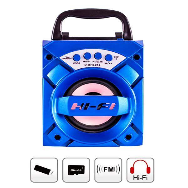 Caixa de som bluetooth e rádio  Xtrad