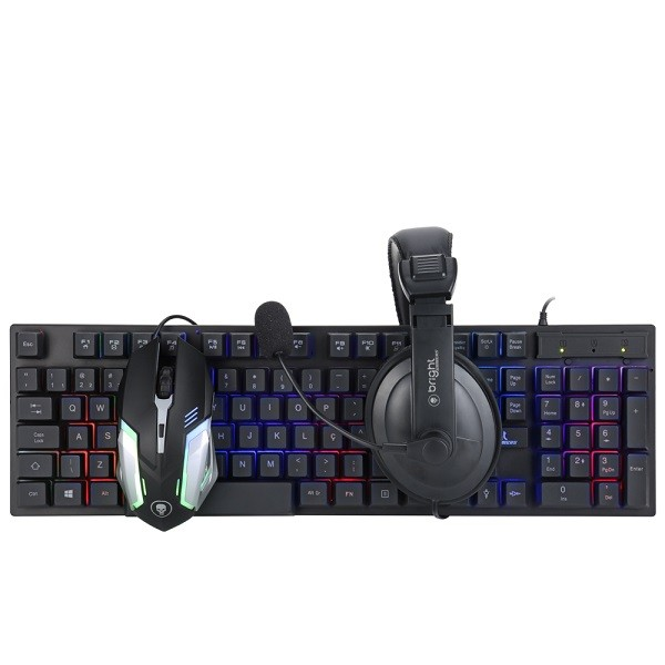 Combo kit Gamer teclado + fone + mouse