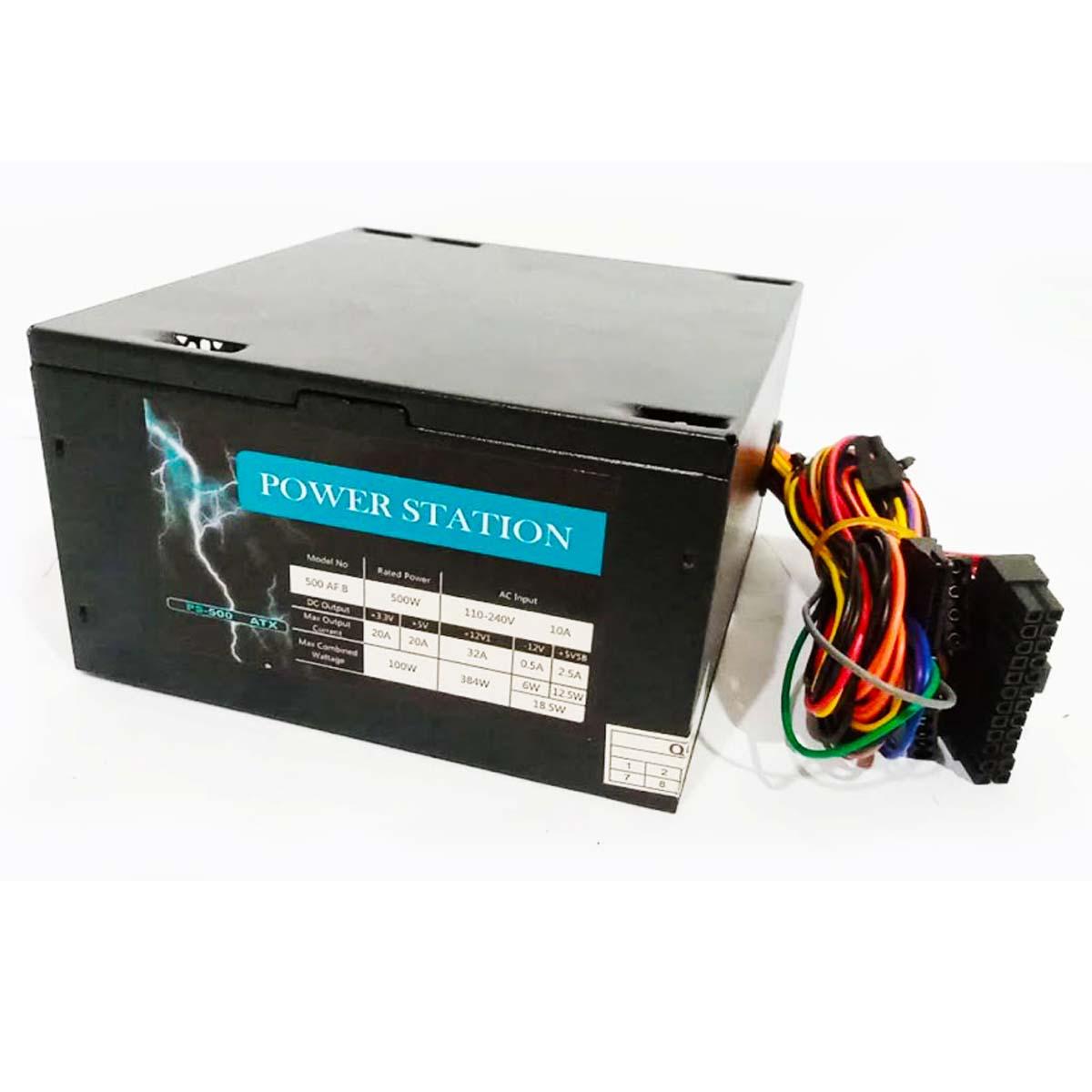 Fonte Power Station ATX PS-500W Bivolt